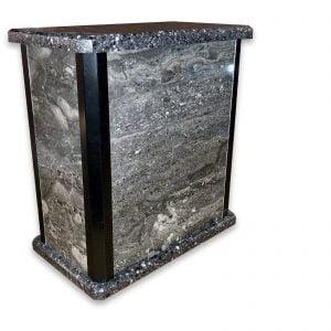 Urne – Sentinelle – Porcelaine Marbré gris